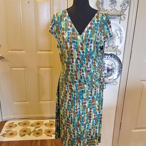 Jones Studio size 16 multi colored dress